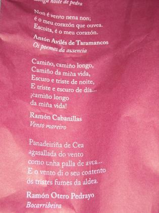 Poemas en la bolsa del pan