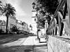Paseo - por el frente de la Alameda, camino del Monasterio. Celanova, Ourense - Galicia, España, septiembre 2012