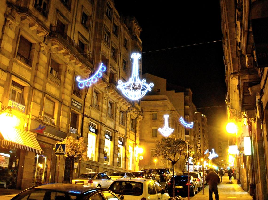 Luces de Navidad en Orense (Galicia, España) Diciembre 2012