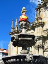 Con la victoria de España en la Eurocopa, luego de su primer Mundial de Futbol, todos los rincones se llenaron de banderas - Galicia, Julio