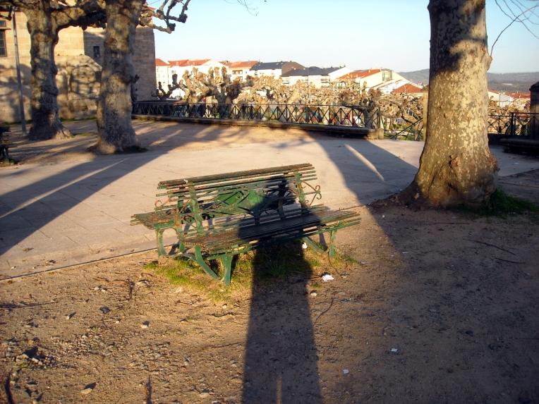Caminando junto a mi larga sombra, sin apuros, un atardecer invernal - enero 2014