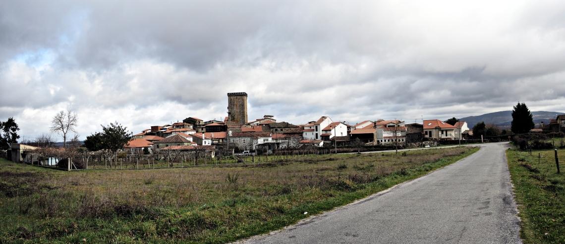 Panorama de la Villa Medieval construido a partir de instantáneas tomadas en enero 2015