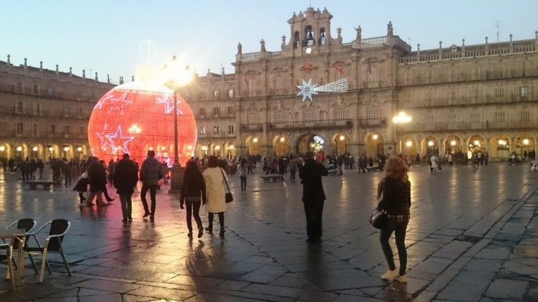 Plaza Mayor de Salamanca, España, durante estas fiestas.